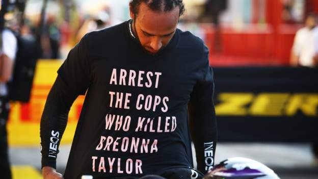 Breonna Taylor: Lewis Hamilton could face FIA investigation over anti-racism T-shirt - BBC Sport