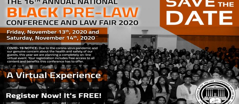 The 16th Annual National Black Pre-Law Conference and Law Fair 2020 Virtual Cover Image