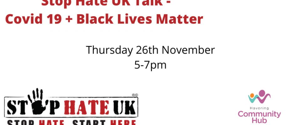 Stop Hate UK - Covid 19 and Black Lives Matter Cover Image