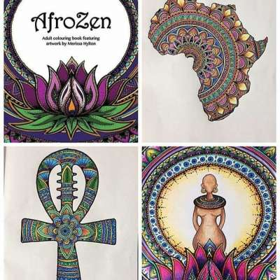'AfroZen' Adult Colouring Book illustrated by Merissa Hylton Profile Picture