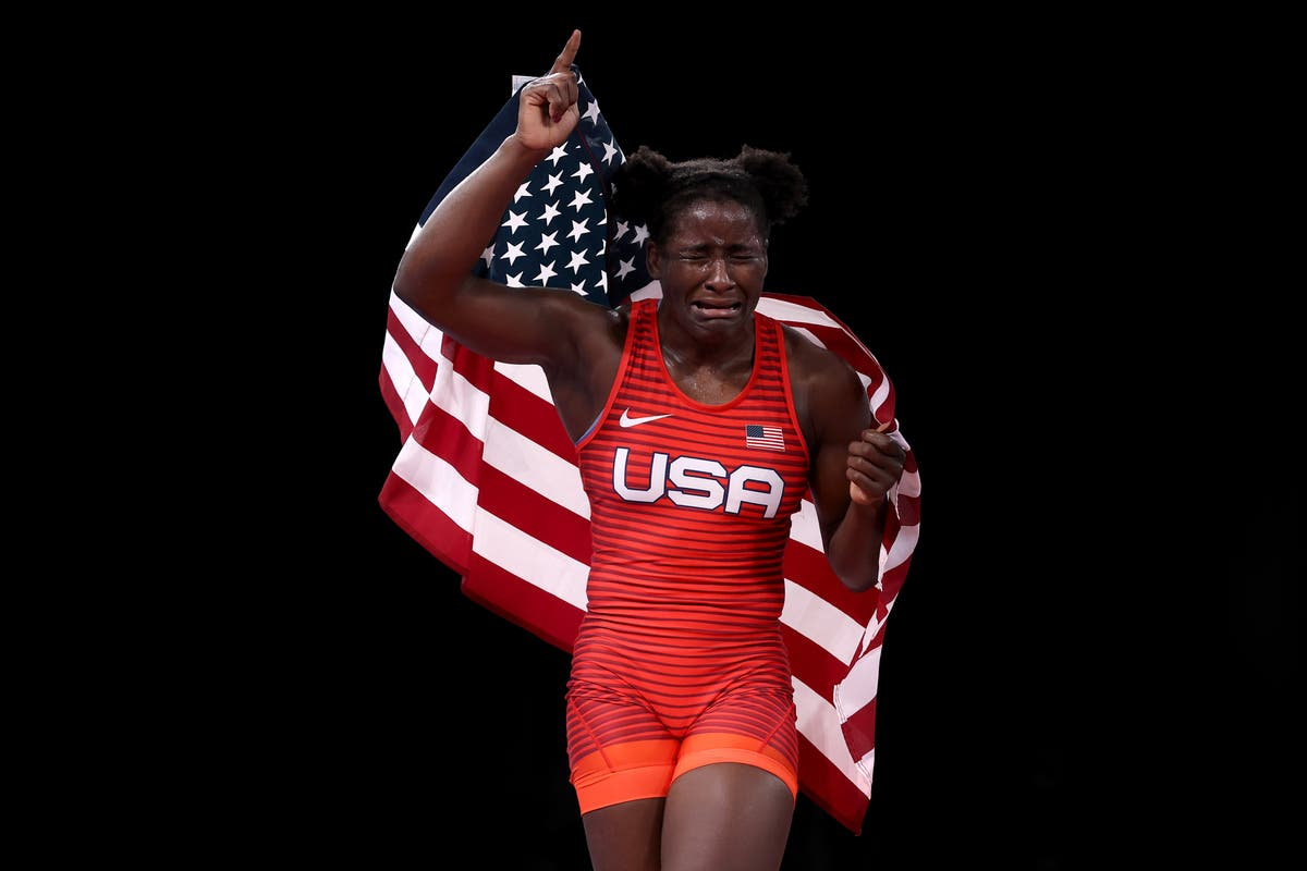 First Black wrestling champion becomes Olympic breakout star for amazing reaction to winning Gold for USA   The Independent