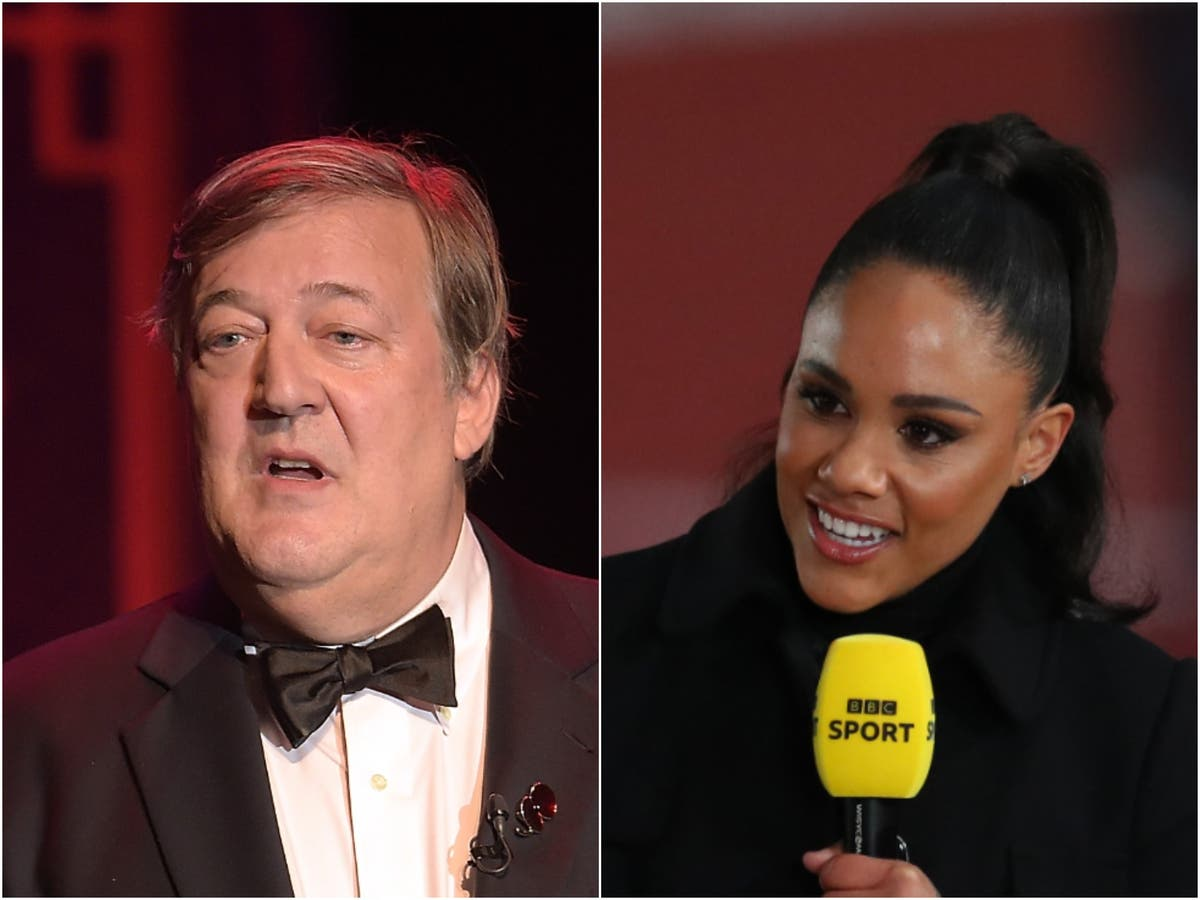 Stephen Fry angrily defends Alex Scott   The Independent